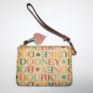 Dooney & Bourke Colorful Small Coin Purse Wristlet